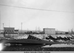 Fairbanks - H.C Davis Sash & Door Factory during Flood of 1911 (D
