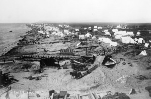 Nome tent city on beach 1900
